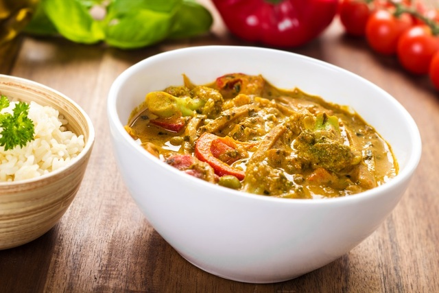 Winter vegetable curry