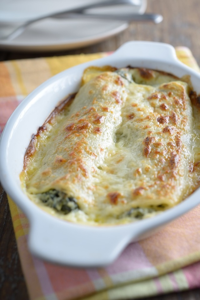 Spinach and ricotta bake with chicken