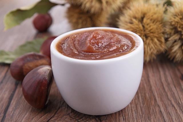 Roast chestnut puree