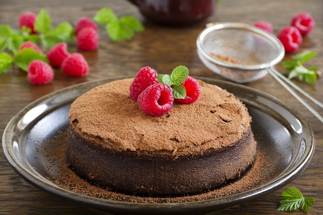 Chocolate truffle rum cake