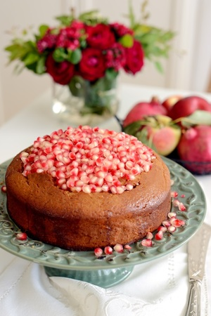 Pomegranate cake