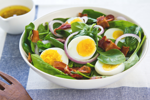 Country salad with eggs