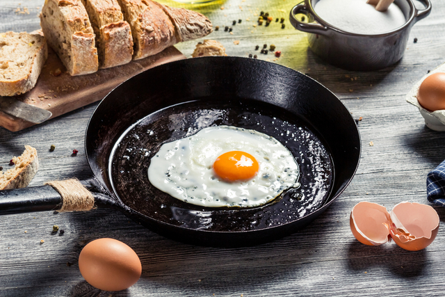 Spicy fried eggs
