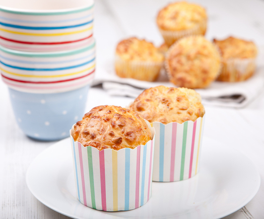 Pumpkin or butternut squash muffins with cheese