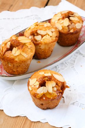 Pear, toffee muffins