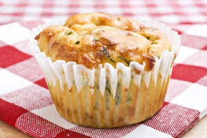Cheesy leek muffins