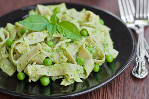Pesto and pea pasta