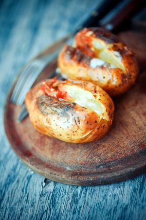 Italian style baked potato