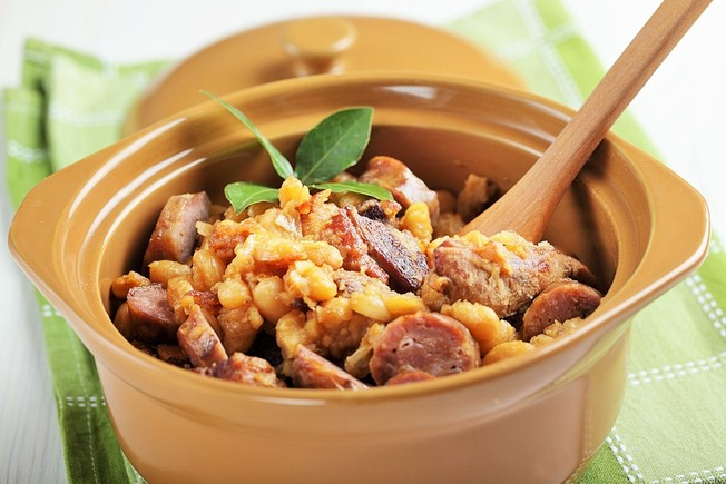Italian stew with garlic mash