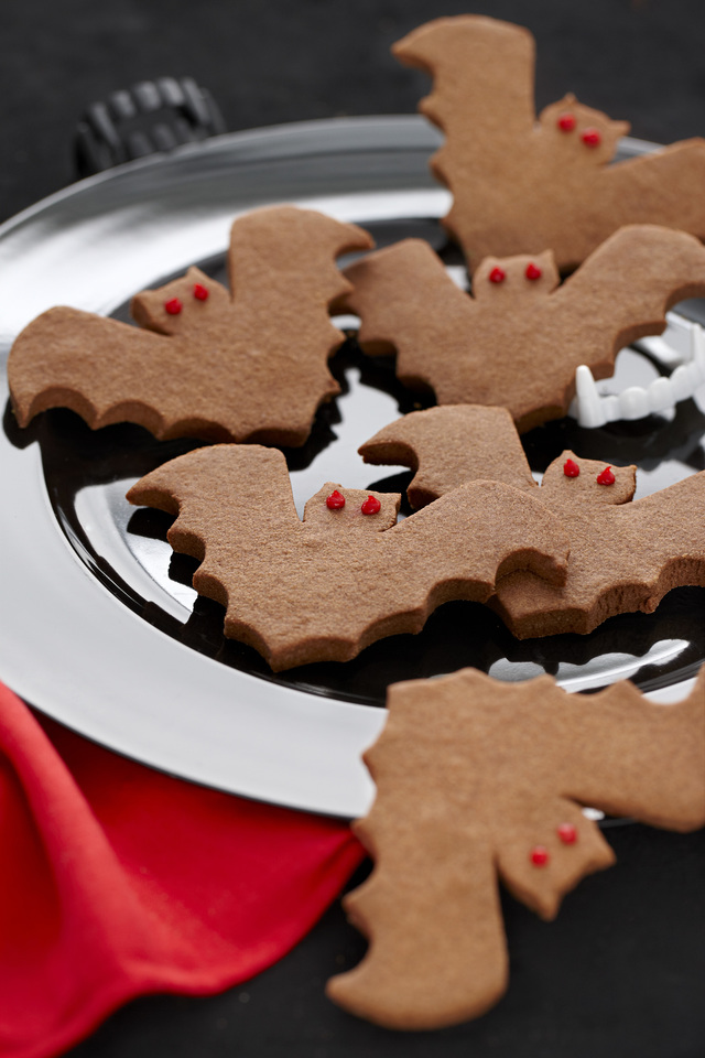 Chocolate bat biscuits