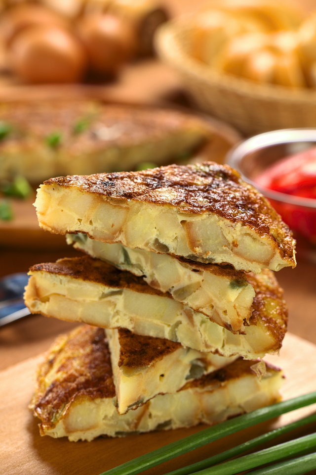 Rustic potato tortilla