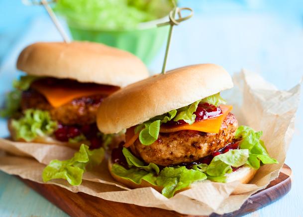 Jerk chicken burger