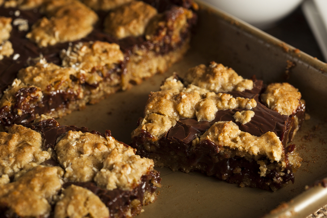 Snicker bar brownies