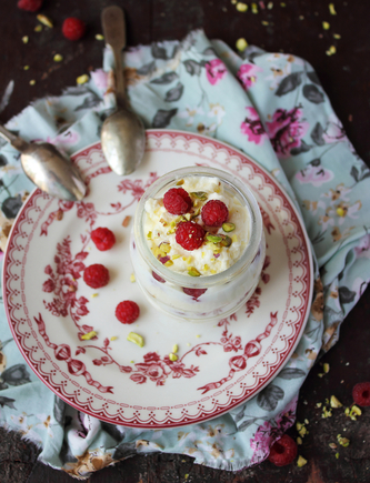 White chocolate with berries