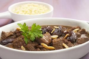 Moroccan lamb with dates