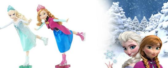 Ice Skating Frozen Dolls