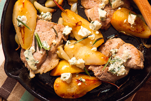 Succulent pork with pears