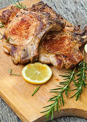Rustic pork chops
