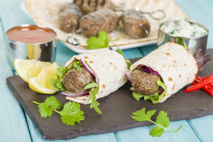Greek lamb koftas