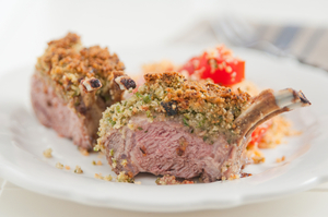 Mustard coated lamb chops