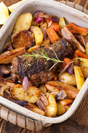 Spiced slow-roast lamb