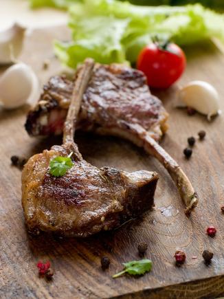 Spicy lamb chops