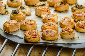 Salmon and dill canapé puffs