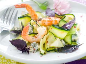 Cucumber, prawn stir-fry