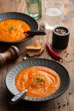 Roast tomato and orange soup
