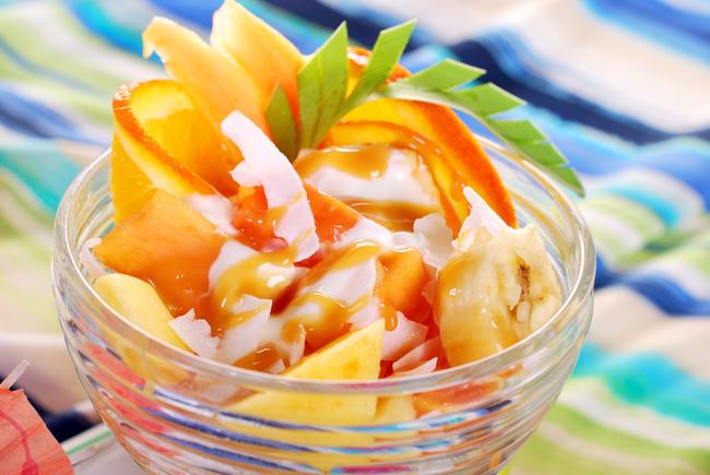 Herby fruit salad