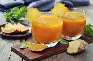 Orange and ginger juice