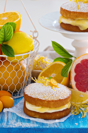 Citrus layer sponge cake