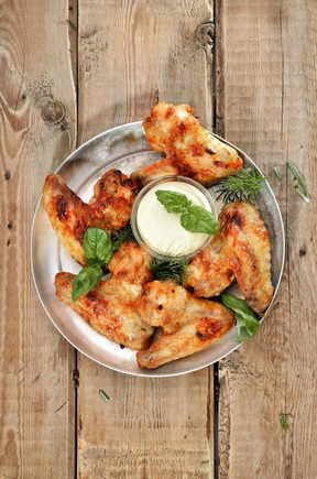 Middle Eastern chicken wings