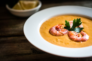 Prawn bisque with fennel