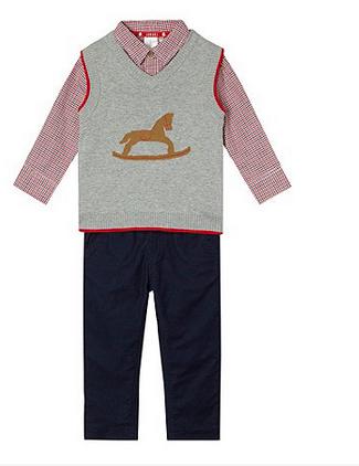 Junior J red shirt, tank and trouser set