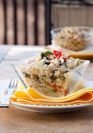 Quinoa and herb salad