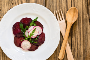 Beetroot carpaccio with radish