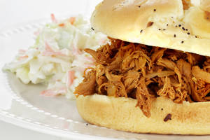 American BBQ pulled chicken sandwiches