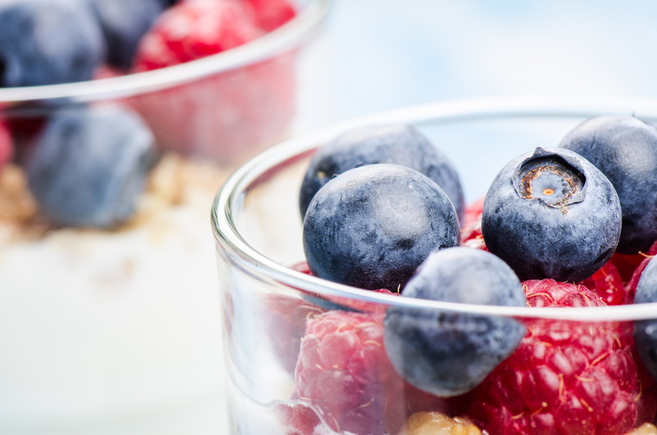 Lemon-berry pudding
