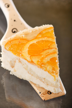 Ginger and orange cheesecake