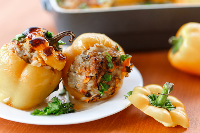 Stuffed peppers with pork