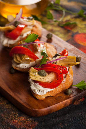 Antipasti crostini