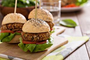Veggie mini burgers