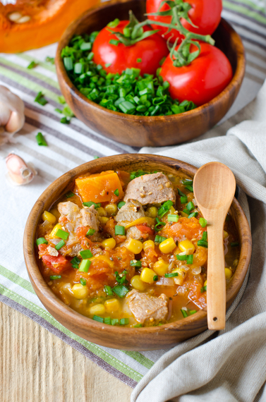 Stewed lamb with chickpeas