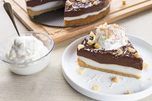 Banoffee chocolate with coconut pie