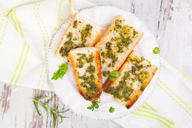 Herb and garlic bread