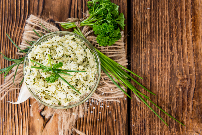 Garlic herb and parmesan butter