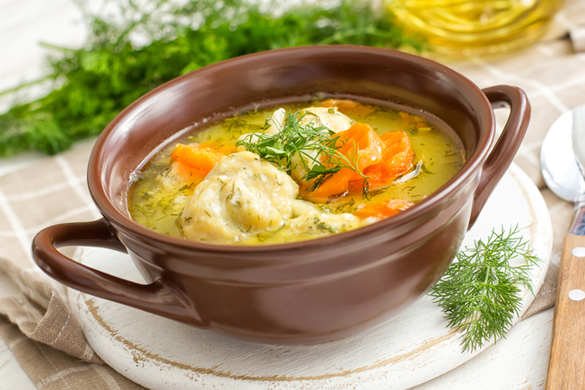Italian meatball and vegetable soup