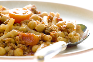 Beef ragu with chickpeas