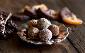 Orange and chocolate truffles